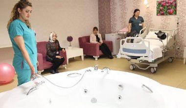 'Beş yıldızlı' hastane odasında jakuzide doğum dönemi başladı…