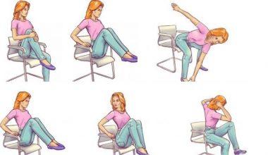 Sandalyenizde Bu 6 Hareketi Yapın Göbeğiniz Dümdüz Olsun