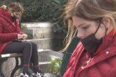 Pelin Öztekin'in hastane bahçesindeki hali yürek burktu